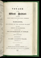 A Voyage In The West Indies - title page